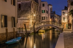 Bridge at Night  in Venice