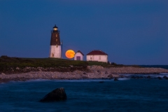 Moonrise, Pt. Judith Lighthouse 1