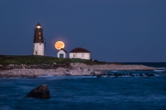 Moonrise, Pt. Judith Lighthouse 2