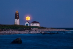 Moonrise, Pt. Judith Lighthouse 3